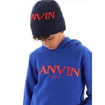 Lanvin Kids Navy stickad mössa