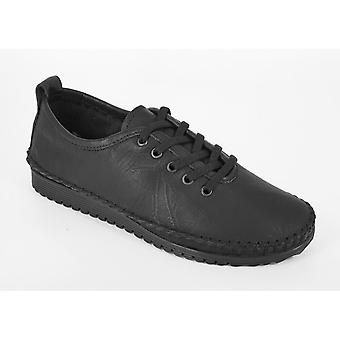 Mod Comfys Womens/Ladies Flexi Softie Leather Trainers