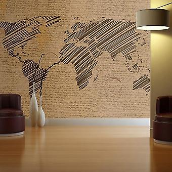 Globe behang - Reisherinneringen