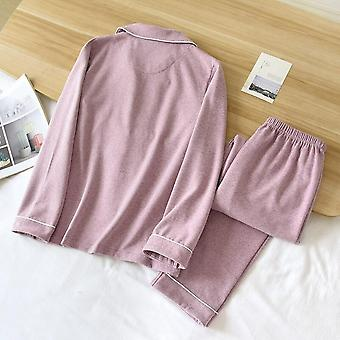 Autumn And Winter Couple Pajamas Two-piece Self-heating Warm Long Slee