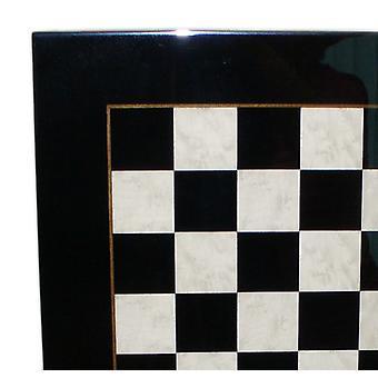 Black & White Wood Veneer Chess Board