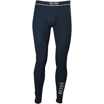 BOSS Leg Logo Stretch Cotton Long Johns, Navy