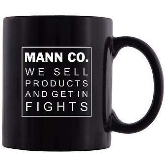 Mann co mug we sell products and get in fights tf2 mugs