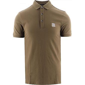 BOSS Dark Green Slim Fit Stretch Cotton Passenger 1 Polo Shirt