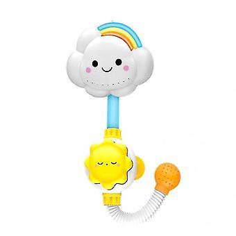 Bath toys cute cloud manual baby bath toy