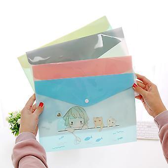 Joli sac de document en plastique Frais Floral A4 Dossiers 4pcs / set