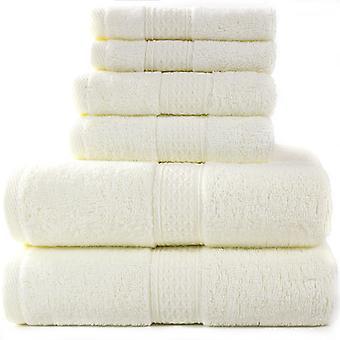 Towels Set Collection Touch - Set Of 6 Buttons 100% Cotton 950g / M, 2 Bath Towels + 2 Handrails