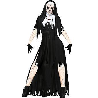 Femmes Zombie Nun Costume Satanic Sister Halloween Party Fancy Dress