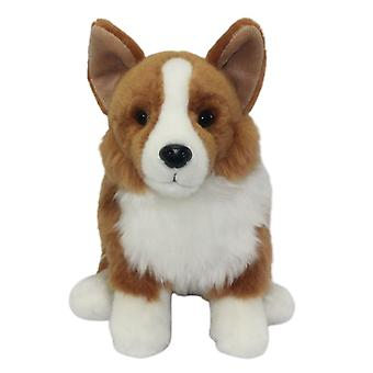 Simulation Plush Toy Corgi Dog Doll Puppy Cute Poodle Teddy Stuffed Soft