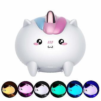 Veilleuse LED, Veilleuse de charge USB, Veilleuse maternelle, Cadeau amusant pour enfants, (blanc)