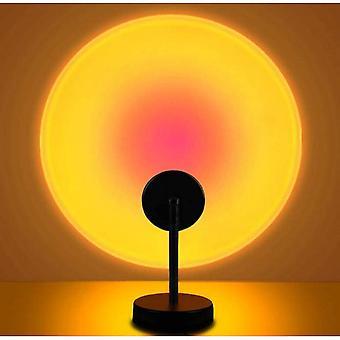 Lumière led sunset, projecteur 5w Rainbow Light, charge USB, convient à la décoration du salon familial et de la chambre à coucher