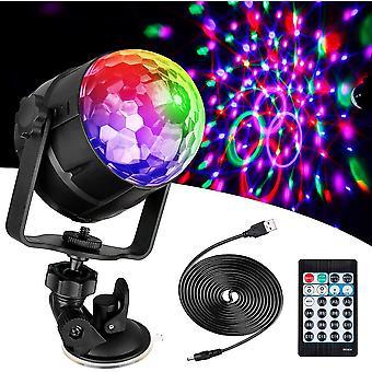 Usb Disco Light 360 Drehbares Rgb Party Licht für Geburtstag, Party