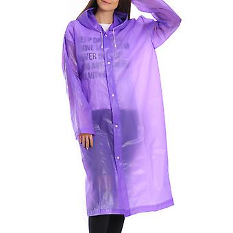 Adult Hooded Raincoat Rainny Coat Poncho Outdoor Camping Jacket Outwear
