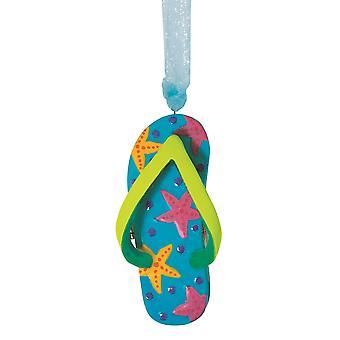 Floppi-flopin saranoitu Box joulua Holiday Ornamentti keraaminen 3,5 tuumaa