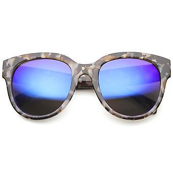 Womens Cat-Eye-Sonnenbrille mit UV400 Schutz verspiegelte Linse