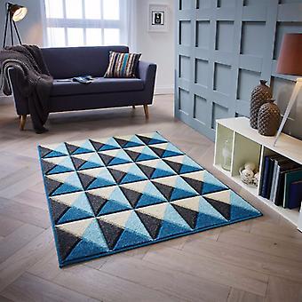 Portland 6994 Q blau grau Creme Rechteck Teppiche moderne Teppiche