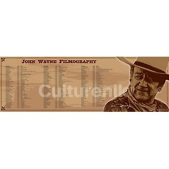 John Wayne Filmografi plakatutskrift plakat