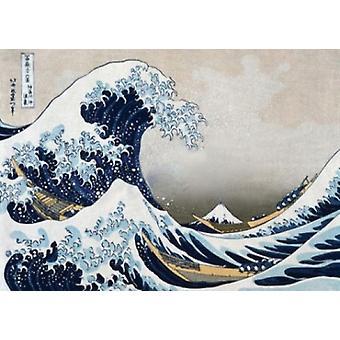Hokusai - la gran onda - Subwaymural cartel Poster Print
