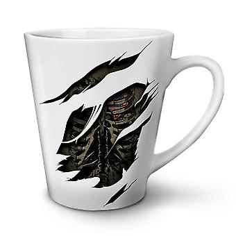USA Skeleton Death NEW White Tea Coffee Ceramic Latte Mug 12 oz | Wellcoda
