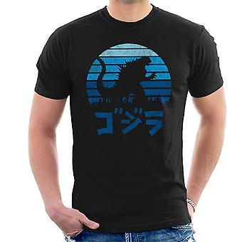 Godzilla Kaiju Sonnenuntergang Herren T-Shirt