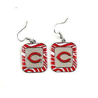 Cincinnati Reds MLB Zebra Style boucle d'oreille