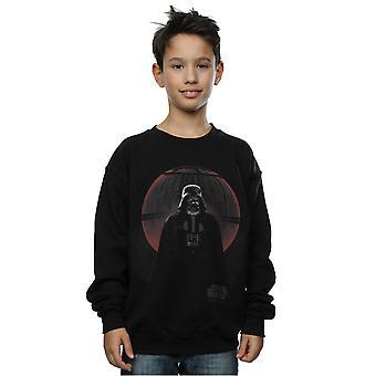 Star Wars jungen Gauner ein Vader Death Star Glow Sweatshirt