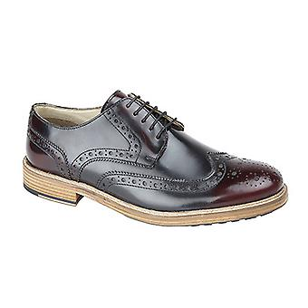 Roamers Mens 5 Eyelet Wing Capped Resin Sole Brogue Gibson Shoes