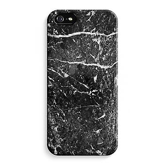 iPhone 5 / 5S / SE Full Print Case (Glossy) - Black marble