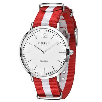 MADISON nova YORK têxtil de Avenida de relógio de pulso L4741G1 Mens watch