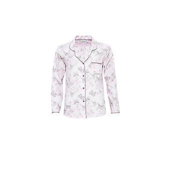 Cyberjammies 3767 kvinnors Sienna rosa Blommig pyjamas pyjamas Top