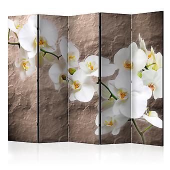 5-teiliges Paravent - Impeccability of the Orchid II [Room Dividers]