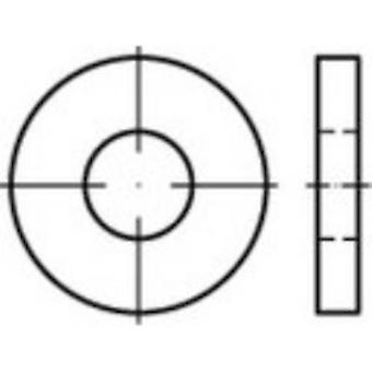 Aluslevyt 5,3 mm 15 mm Ruostumaton teräs A2 100 kpl TOOLCRAFT 1067782