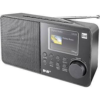 مزدوج DAB 18 C المحمولة راديو DAB +, FM الأسود