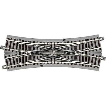 61164 H0 Roco GeoLine (incl. track bed) Diamond crossing 200 mm 22.5 ° 502.7 mm