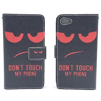 Mobile phone case pochette pour téléphone Sony Xperia Z5 compact ne touche pas mon téléphone rouge