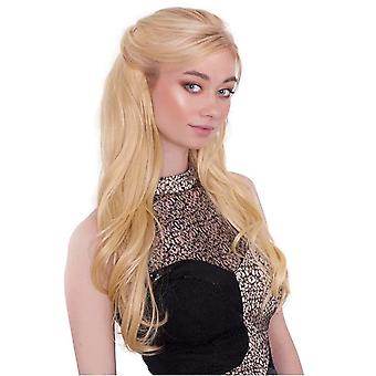 Natural Half Wig - Long Wave Hairpiece (3/4 wig)