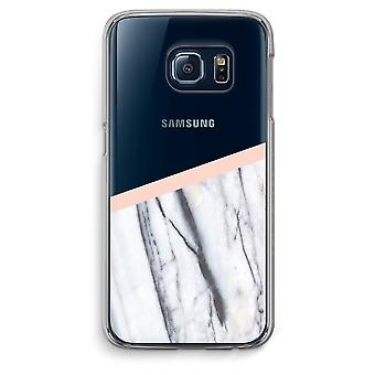Samsung Galaxy S6 Edge Transparent fodral (Soft) - en touch av persika
