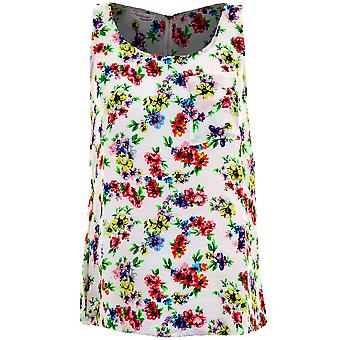 Ladies Sleeveless Aztec Floral Butterfly Bird Print Women's Chiffon Casual Vest Top