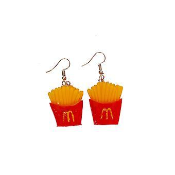 Boucles d'oreilles bijoux et couronnes français fries