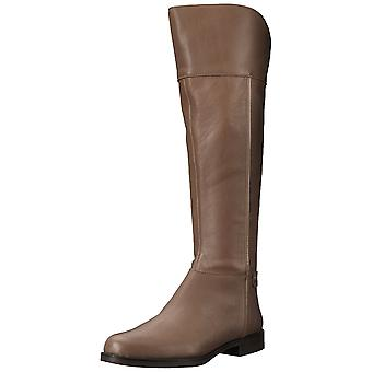Franco Sarto Womens Chistine Leather Round Toe Knee High Riding Boots