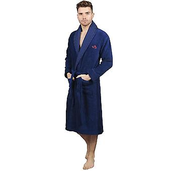 The cotton<sup>®</sup>luxury bathrobe - navy