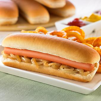 Americana Frozen Side Sliced Hot Dog Rolls 16cm