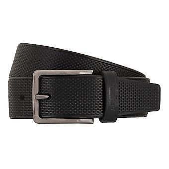 MIGUEL BELLIDO clasico belts men's belts leather belt black 7689