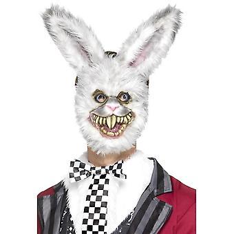 White Rabbit Mask, White, EVA, with Fur