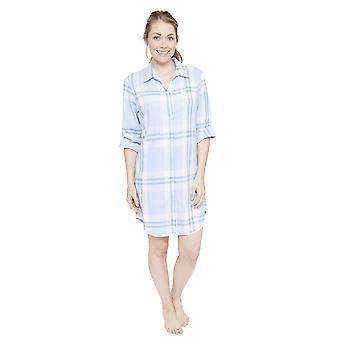 Cyberjammies 4060 kobiet Amelia Blue Plaid snu koszula Koszulka nocna Koszula nocna