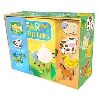 Farmfreunde: Buch, Puzzle und Spielzeug-Set