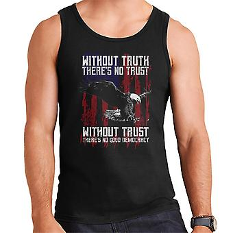 Without Truth Theres No Trust Eagle American Flag Men's Vest