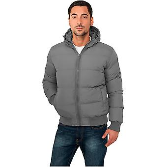 Urban classics men's winter jacket hooded bubble jacket