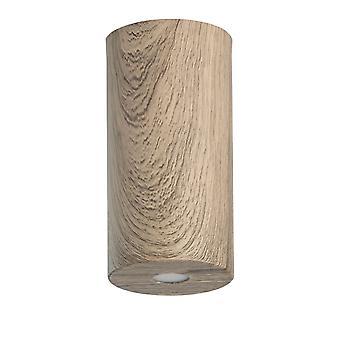 Glasberg - diodo emissor de luz de teto semi-nivela 20cm madeira café 712010401