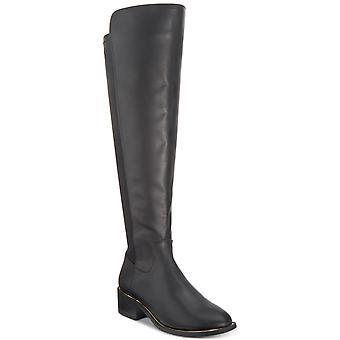 Material Girl Womens Johny couro amêndoa do dedo do pé sobre o joelho moda botas